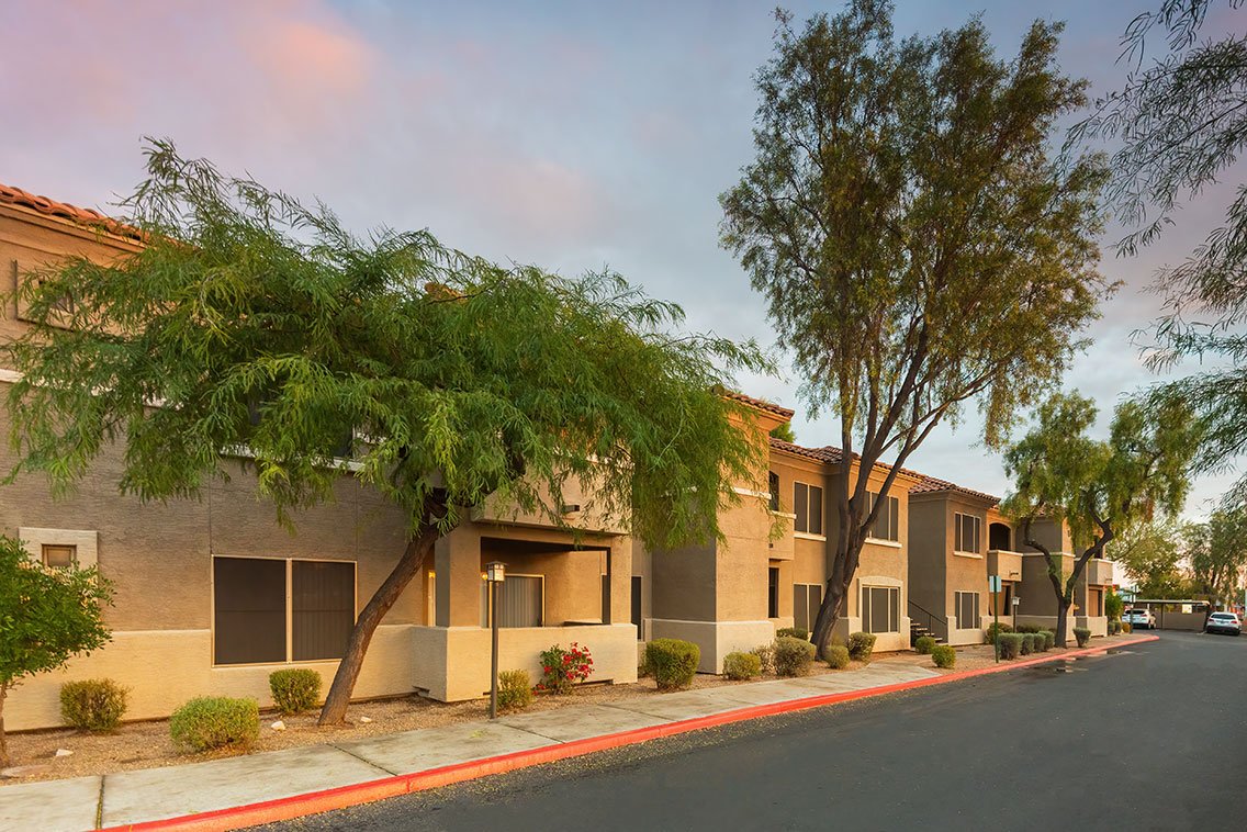 Exterior of The Traditions Apartments in Mesa, AZ
